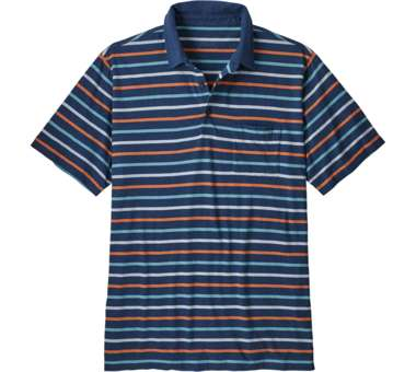 Mens Squeaky Clean Polo terra multi: blue | S