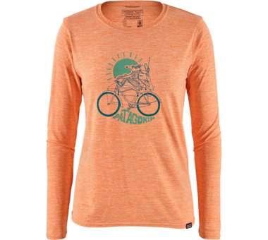 Womens LS Capilene Cool Daily Graphic Shirt peach sherbet | M