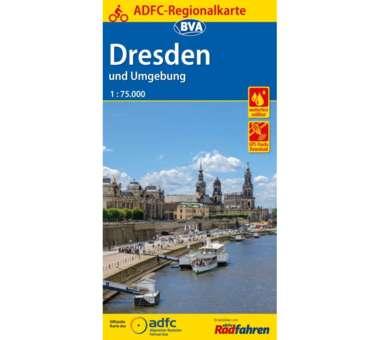 Dresden und Umgebung Fahrradkarte