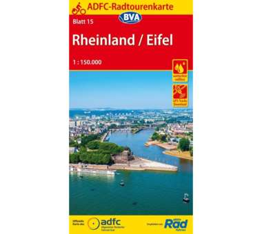 Rheinland / Eifel Fahrradkarte , Auflage 2019