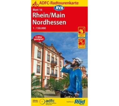 Rhein / Main / Nordhessen Fahrradkarte , neue Auflage