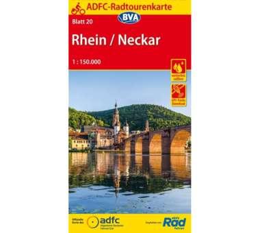 Rhein / Neckar Fahrradkarte