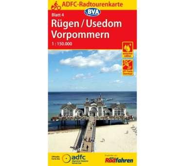 Rügen / Usedom / Vorpommern Fahrradkarte