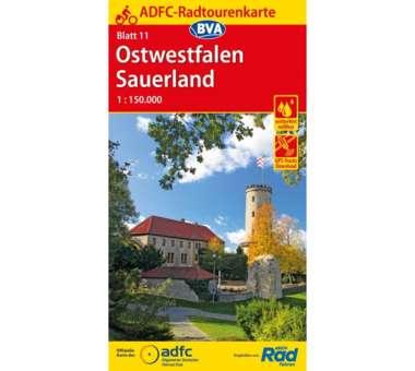 Ostwestfalen / Sauerland Fahrradkarte