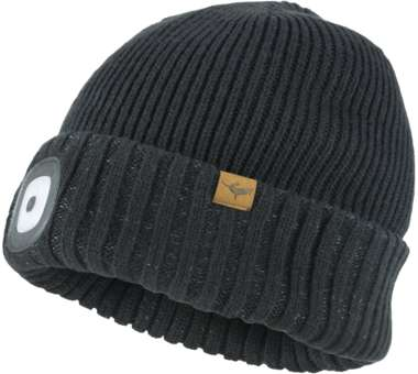 WP Cold Weather LED Roll Cuff Beanie Hat black | L/XL
