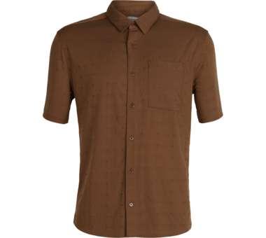 Compass SS Shirt Men dobby tobacco/monsoon | S