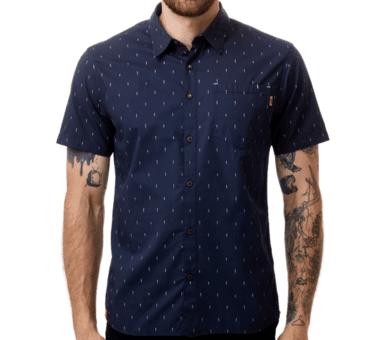 Men's Cotton Short Sleeve Button Up