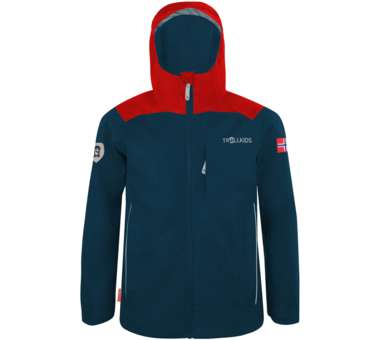Kids Bergen Jacket bright red/mystic blue | 116