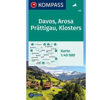 Wanderkarte Davos, Arosa, Prättigau, Klosters