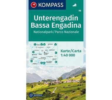 Wanderkarte Unterengadin Nationalpark