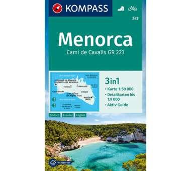 Wanderkarte Menorca 3-in-1