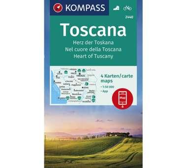 Wanderkarte Herz der Toskana - 4 Karten