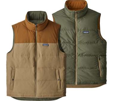 Reversible Bivy Down Vest Men mojave khaki | M