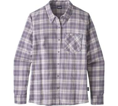 Heywood Flannel Shirt Women herder: smokey violet | US 8