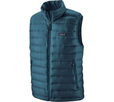 Down Sweater Vest Men crater blue | S