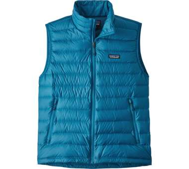 Down Sweater Vest Men balkan blue | S