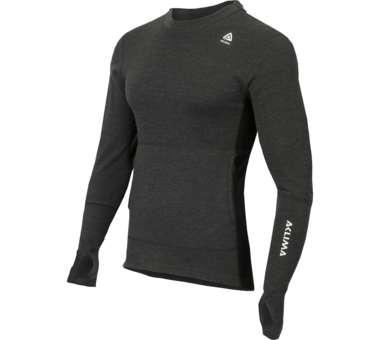Warmwool Hood Sweater Men merengo/jet black | S