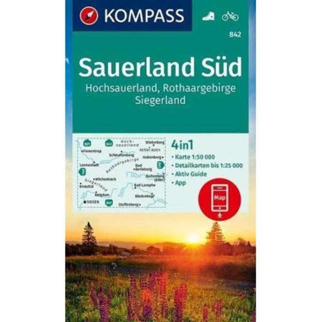 Kompass-Verlag WK Sauerland Süd,Hochsauerland,Rothaarge