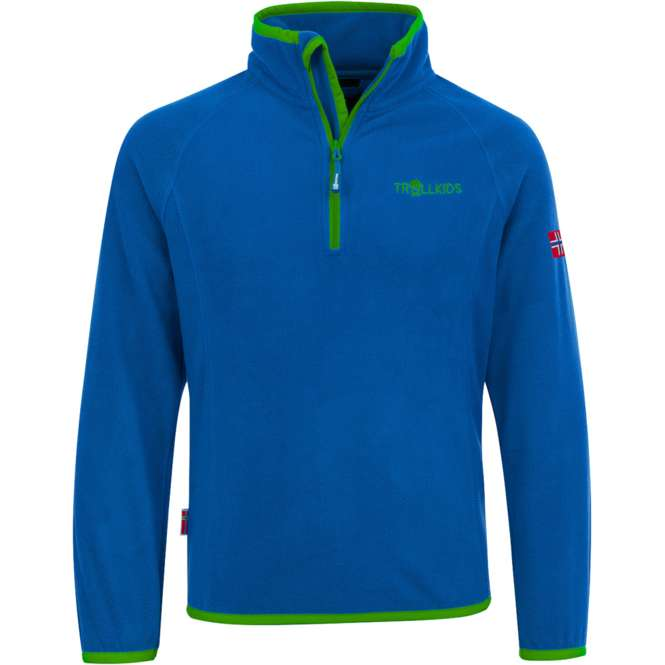 Trollkids Kids Nordland Half Zip - medium blue/green | 128