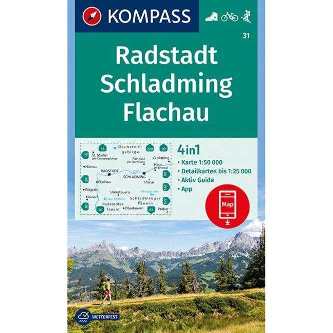 Kompass-Verlag Wanderkarte Radstadt, Schladming, Flachau