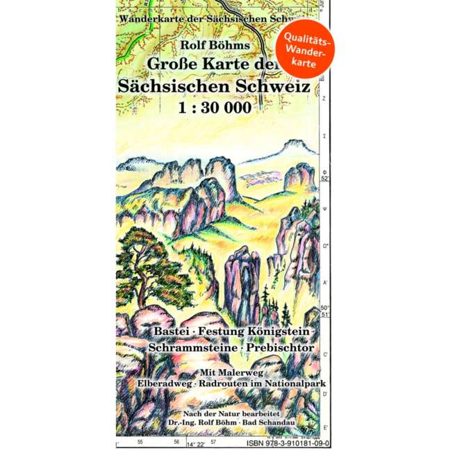 Rolf Böhm Große Karte der Sächsischen Schweiz