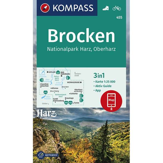 Kompass-Verlag WK Brocken,Nationalpark Harz,Oberharz 1:
