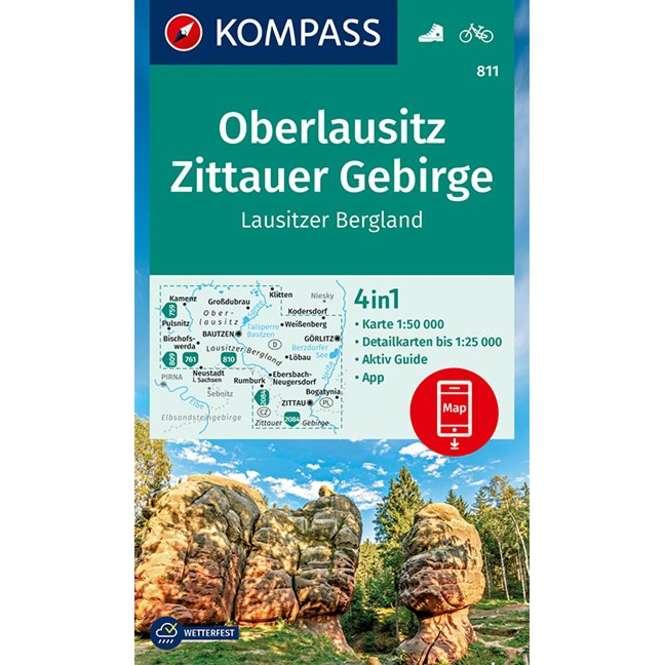 Kompass-Verlag WK Oberlausitz,Zittauer Gebirge,Lausitze
