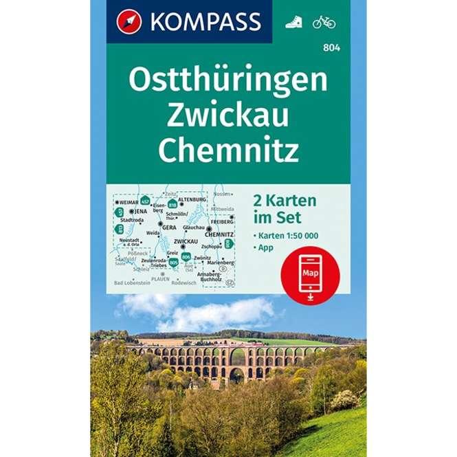 Kompass-Verlag WK Ostthüringen,Zwickau,Chemnitz