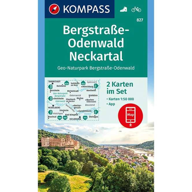 Kompass-Verlag WK Bergstraße-Odenwald,Neckartal,Geo-Nat