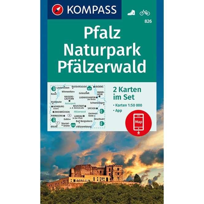 Kompass-Verlag WK Pfalz,Naturpark Pfälzerwald