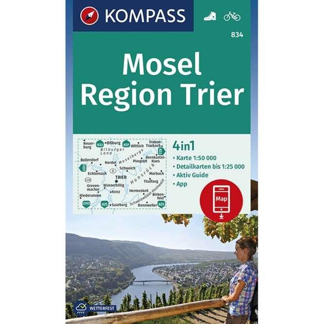 Kompass-Verlag WK Mosel,Region Trier