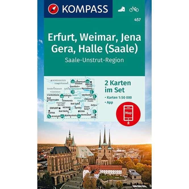 Kompass-Verlag WK Erfurt,Weimar,Jena,Gera,Halle (Saale)