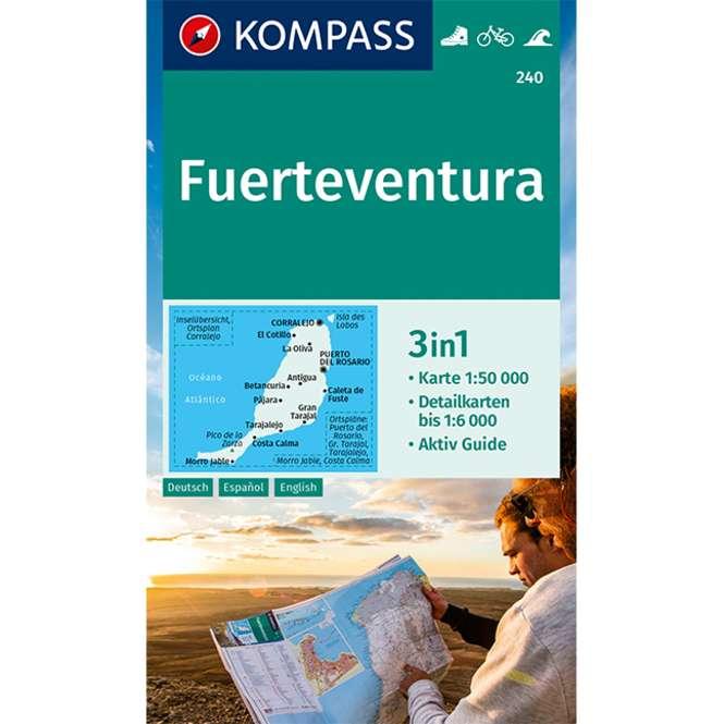 Kompass-Verlag Wanderkarte Fuerteventura 3in1