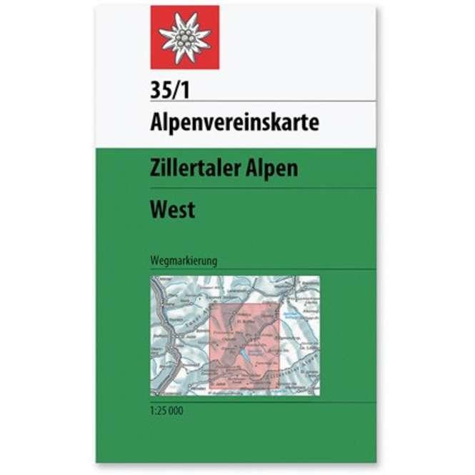 DAV AV-Karte 35/1 - Zillertaler Alpen West