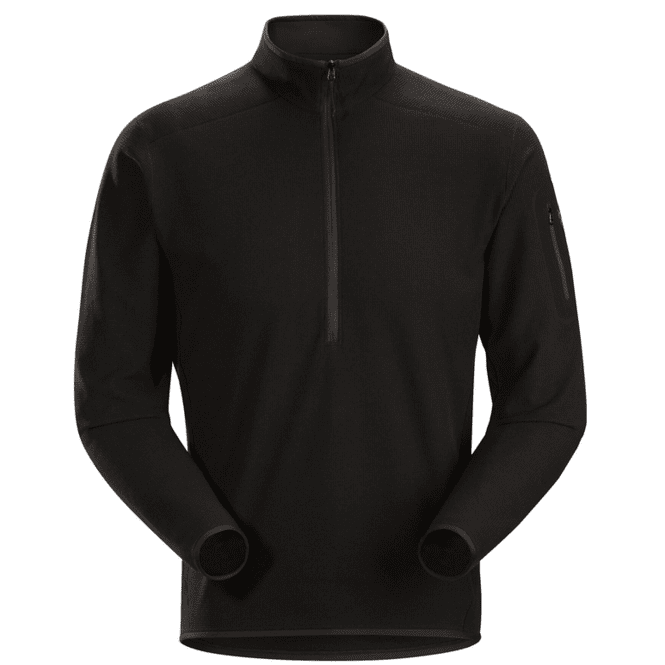 Arc'teryx Delta LT Zip Neck Men - black | XL