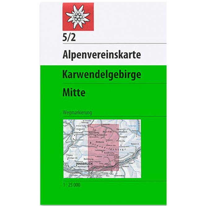 DAV AV-Karte 5/2 Karwendelgebirge, Mitte