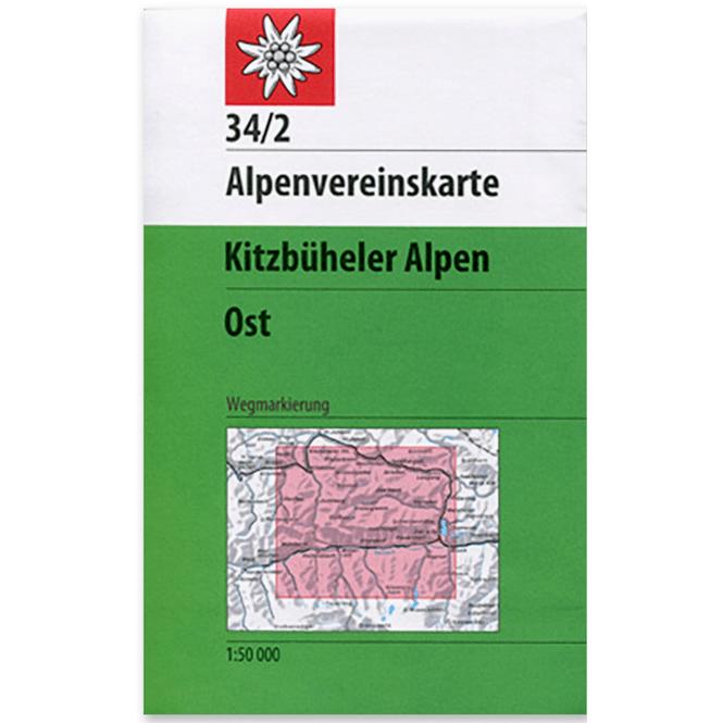 DAV AV-Karte 34/1 Kitzbühler Alpen, West