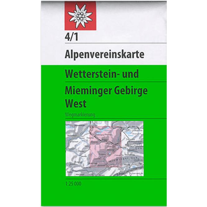 DAV AV-Karte 04/1 - Wetterstein-Mieminger Gebirge, West