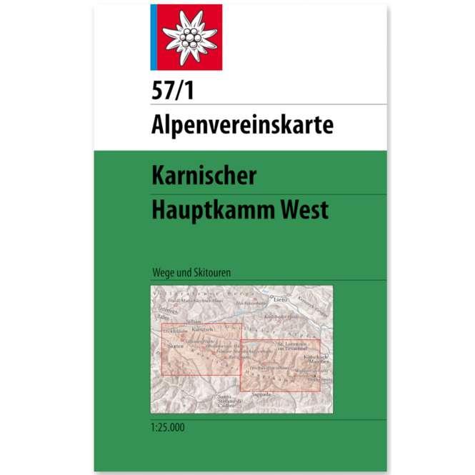 DAV AV Karte 57/1 - Karnischer Hauptkamm, West