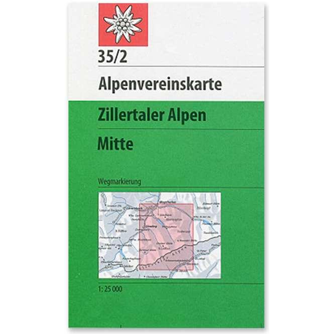 DAV AV-Karte 35/2 - Zillertaler Alpen Mitte