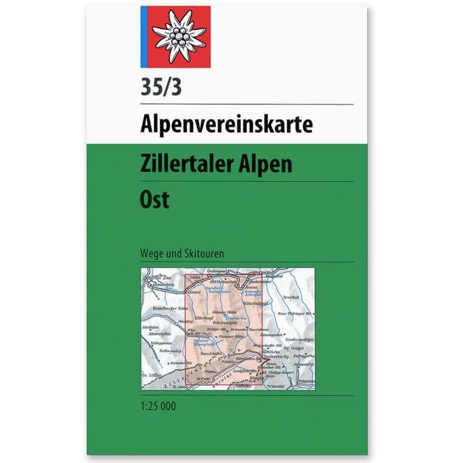 DAV AV-Karte 35/3 - Zillertaler Alpen Ost W/S