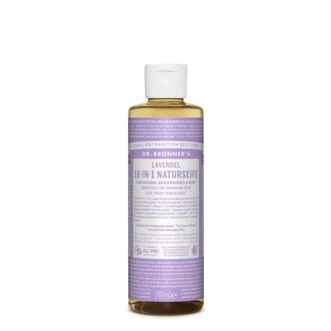 Dr. Bronner's 18-in-1 Naturseife - 240 ml / Lavendel