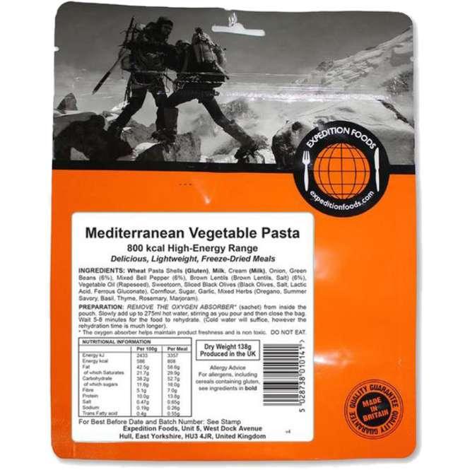 Expedition Foods Mediterrane Gemüse-Nudeln (800kcal)