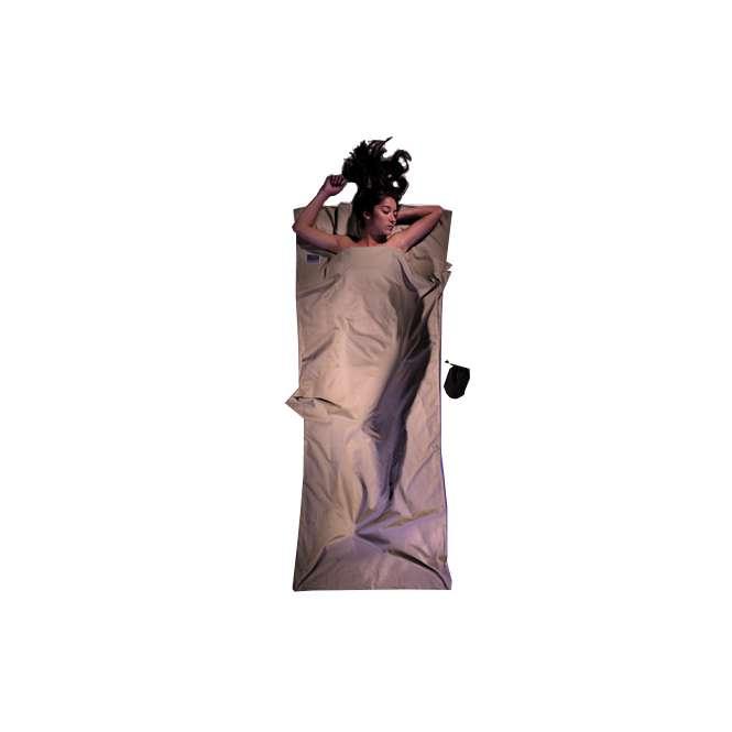 Cocoon Inlett Decke ägyptische Baumwolle - khaki