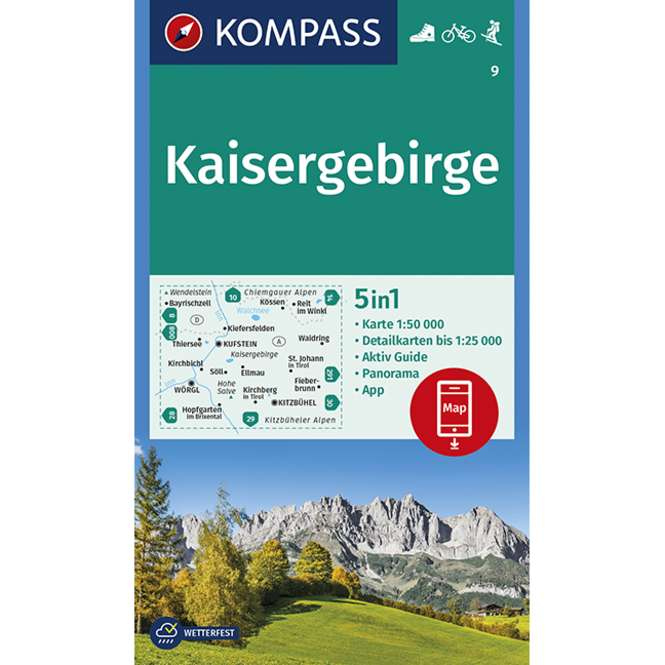 Kompass-Verlag Wanderkarte Kaisergebirge