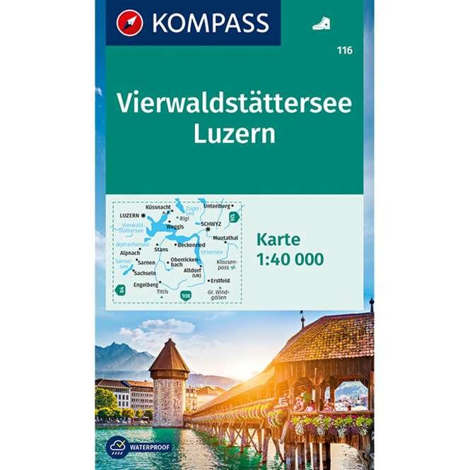 Kompass-Verlag Wanderkarte Vierwaldstätter See - Luzern