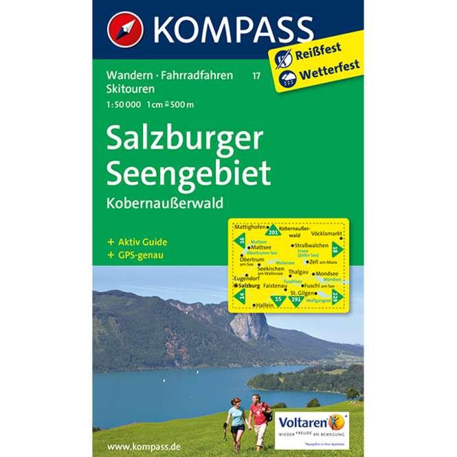 Kompass-Verlag Wanderkarte Salzburger Seengebiet