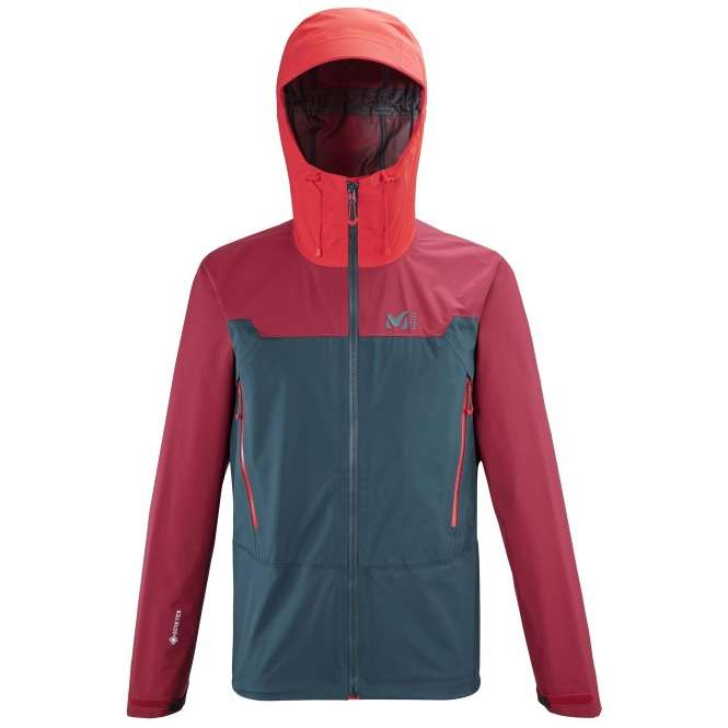 Millet Kamet Light GTX Jacket Men - orion blue/tibetan red | L