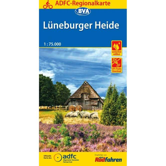 BVA BikeMedia Lüneburger Heide Fahrradkarte