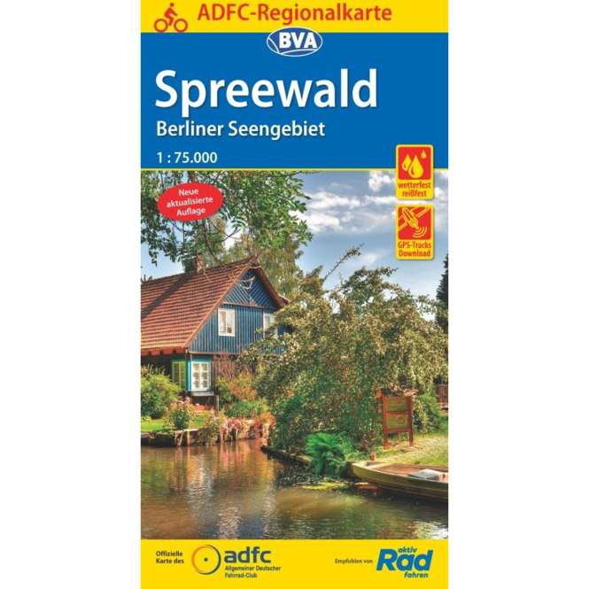 BVA BikeMedia Spreewald / Berliner Seengebiet Fahrradkarte